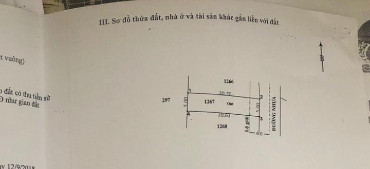 BÁN LÔ ĐẤT TÂN PHÚ TRUNG CỦ CHI, 103M2 THỔ CƯ,  900 TRIỆU, SHR